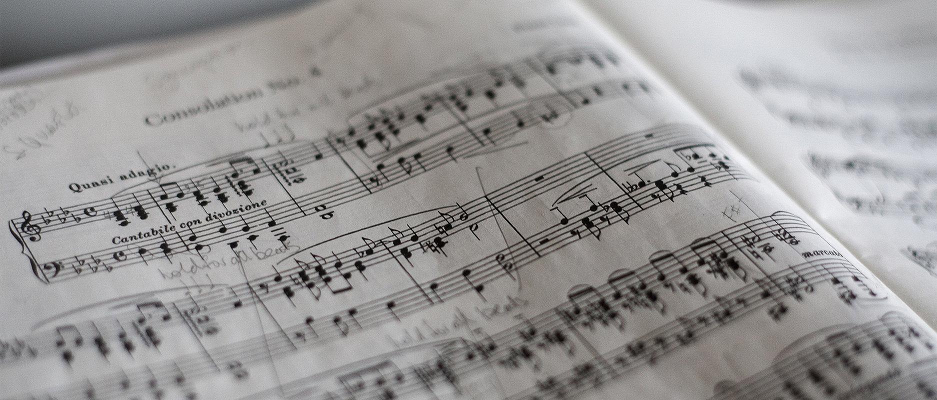 Partition et notes de musique
