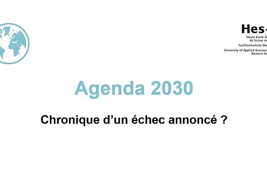 Conférence Agenda 2030, chronique d'un échec annoncé