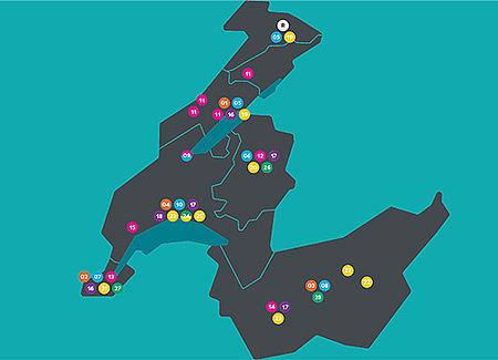 Carte des hautes écoles de la HES-SO