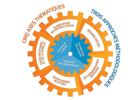 Institut de Recherche de la Haute école de santé de Genève (IR-HEdS) - axes thématiques