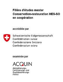 Master Conservation-restauration accréditation