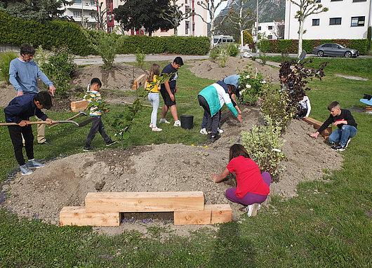enfants aménagement paysager sierre orzival