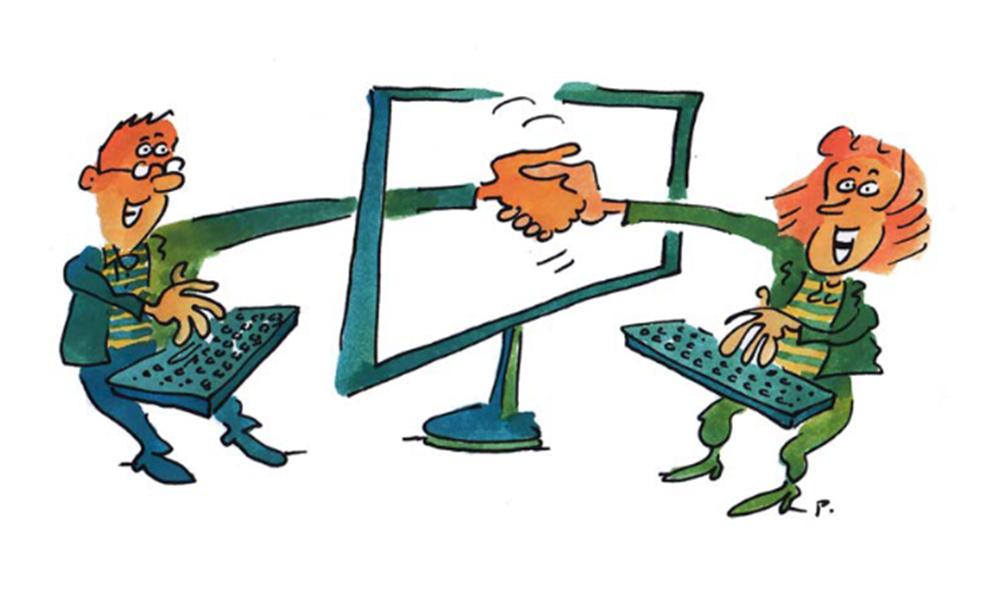 illustration humoristique numérique solidaire